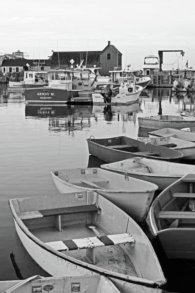 Photograph - Motif #1 Rockport Ma Black And White by Toby McGuire