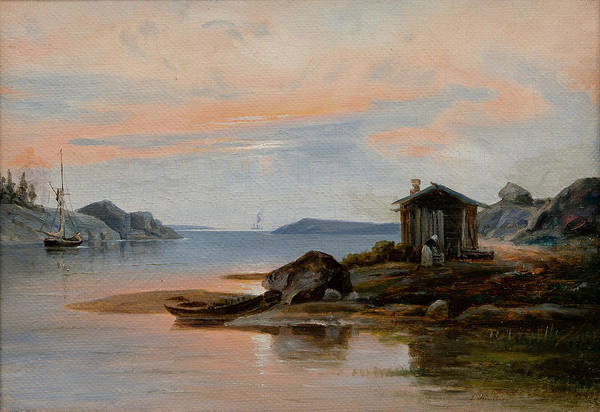 Archipelago Painting - Motif From The Archipelago. by Johan Knutson