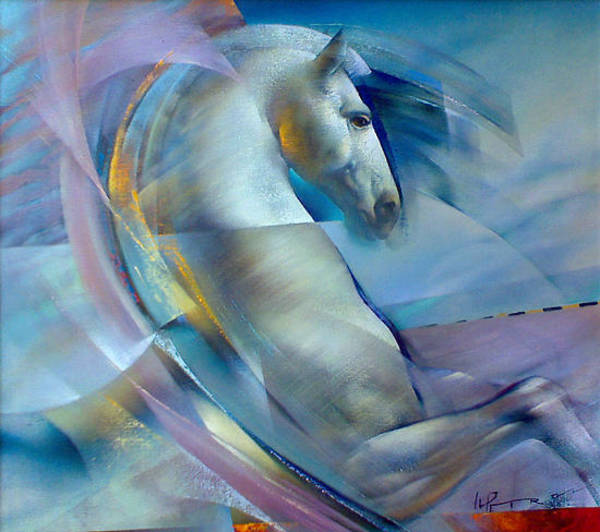 Horse Painting - Motion by Ivailo Petrov