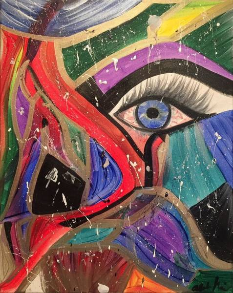 Painting - Motley Eye by Alisha Anglin