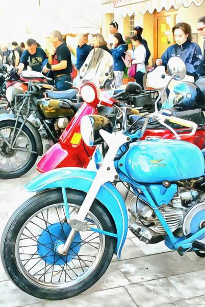 Photograph - Moto Guzzi And Lambretta Enthusiasts by Dorothy Berry-Lound