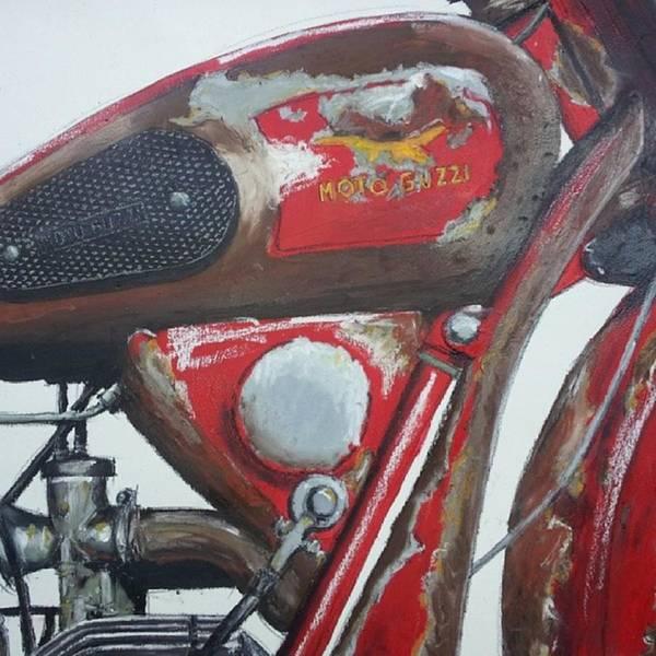 Illustration Wall Art - Photograph - Moto Guzzi Art - Detail #moto #motogp by Drawspots Illustrations