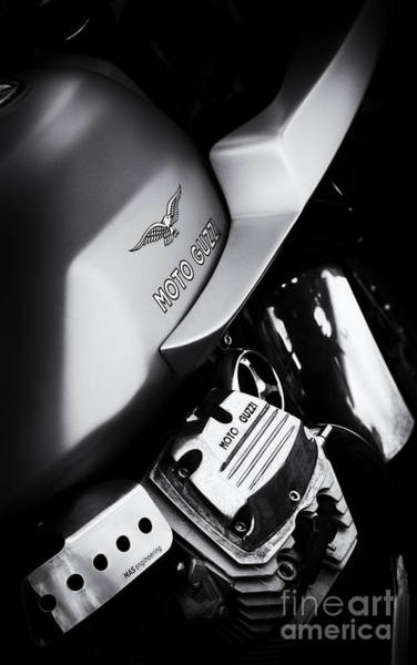 Photograph - Moto Guzzi V7 Cafe Racer by Tim Gainey