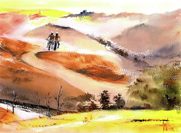 Painting - Motocross by Anil Nene
