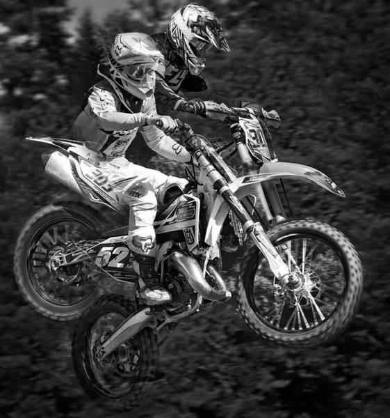 Dirt Bike Photograph - Motocross by Daniel Hagerman