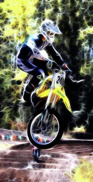 Dirtbike Photograph - Motocross Jump by Athena Mckinzie
