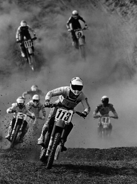 Photograph - Motocross Racing by Steve Somerville
