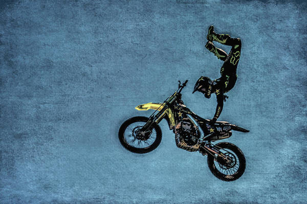 Freestyle Photograph - Motocross Rider by Garry Gay
