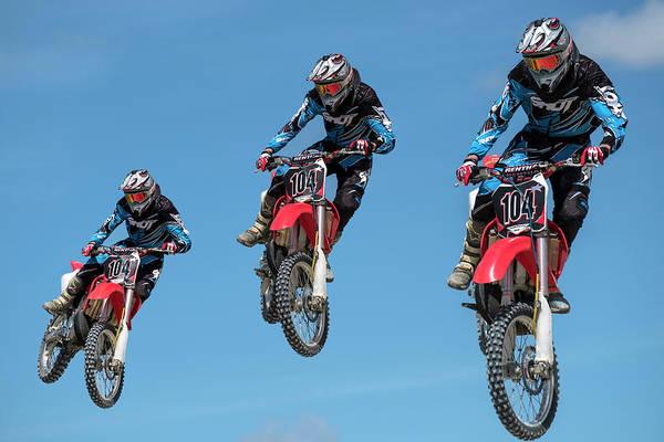 Dirt Bike Photograph - Motocross Riders by Michael Mogensen