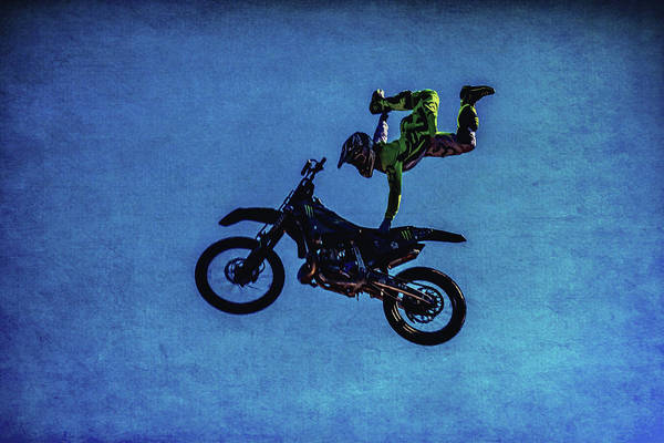 Freestyle Photograph - Motocross Stunt by Garry Gay