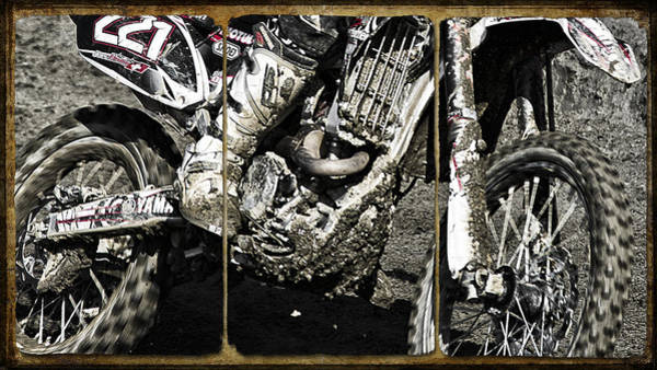 Dirt Bike Photograph - Motocross Triptych by Daniel Hagerman