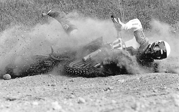 Photograph - Motocross Wipe Out by Steve Somerville