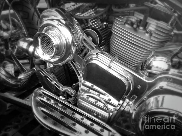 Photograph - Motor Bike Motor by Gregory Dyer