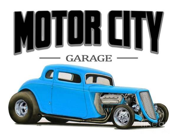 Hot Rod Digital Art - Motor City Hot Rod by Paul Kuras