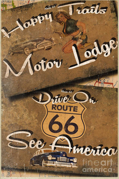 Wall Art - Painting - Motor Lodge by Cinema Photography