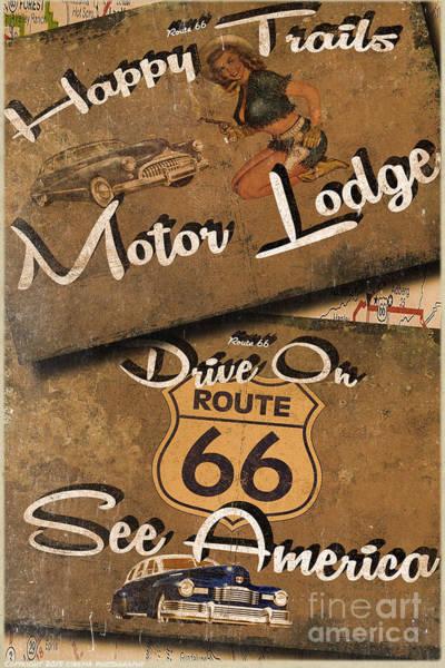Wall Art - Painting - Motor Lodge by Cinema Photography