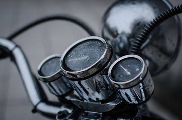 Photograph - Motorcycle In The Fog by Miguel Winterpacht