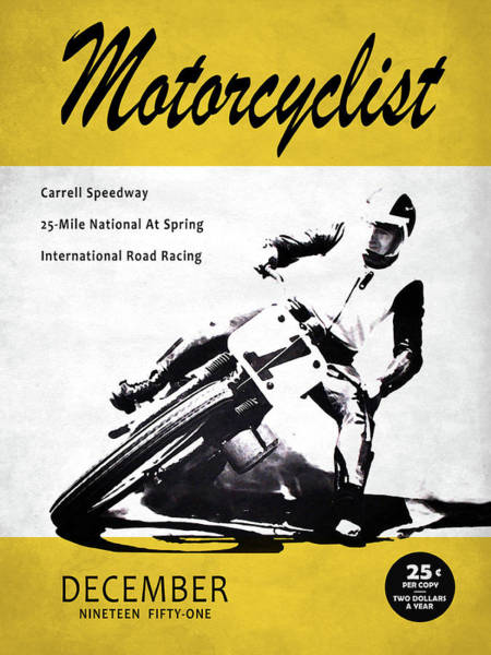 Wall Art - Photograph - Motorcycle Magazine Carrell Speedway 1951 by Mark Rogan