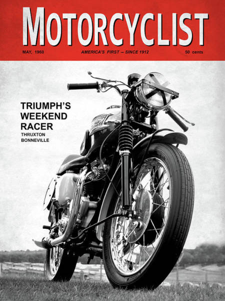Wall Art - Photograph - Motorcycle Magazine Weekend Racer 1960 by Mark Rogan