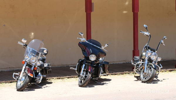 Wall Art - Photograph - Motorcycle Parade by Christiane Schulze Art And Photography