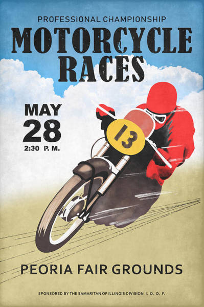Wall Art - Photograph - Motorcycle Races Peoria by Mark Rogan