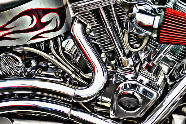 Wall Art - Photograph - Motorcycle Reds by Alice Gipson