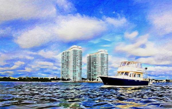 Wall Art - Photograph - Motoring Past The Marina Grande by Alice Gipson
