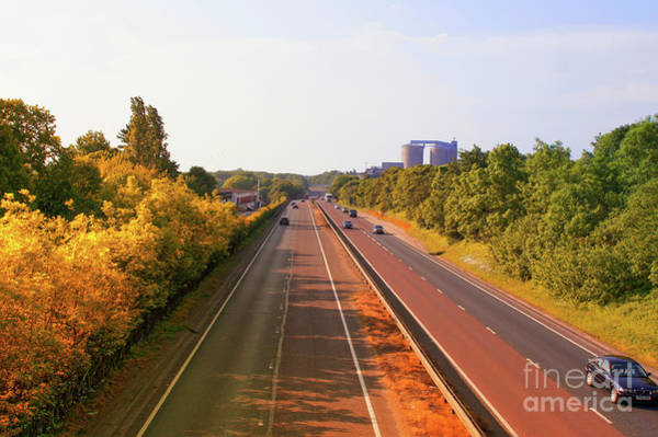 Wall Art - Photograph - Motorway In England by Tom Gowanlock
