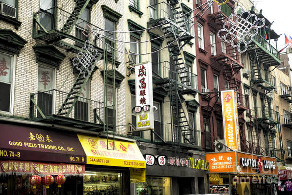 Photograph - Mott Street Stores by John Rizzuto