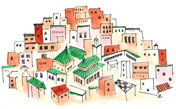 Painting - Moulay Idriss 2 by Anna Elkins