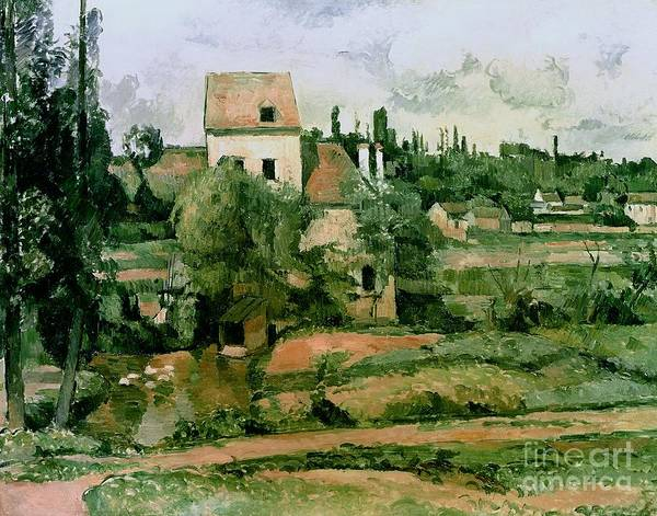 Crt Painting - Moulin De La Couleuvre At Pontoise by Paul Cezanne