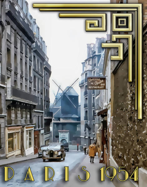 Photograph - Moulin - Montmartre by Chuck Staley