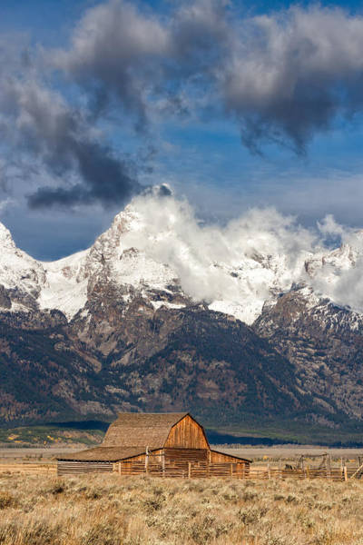 Wall Art - Photograph - Moulton Barn And Mountain Majesty by Kathleen Bishop