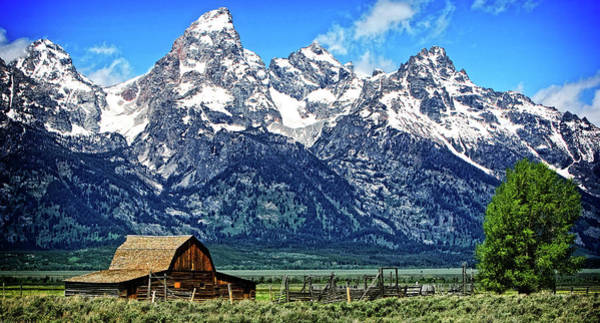 Photograph - Moulton Barn At Mormon Row Inside Grand Teton National Park by Lincoln Rogers