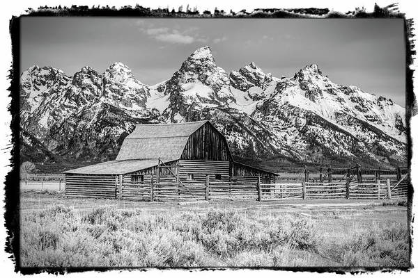 Photograph - Moulton Barn Black And White  by Gigi Ebert
