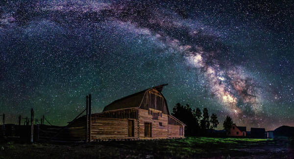 Photograph - Moulton Barn Milky Way by Ryan Smith