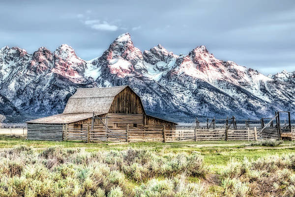 Photograph - Moulton Barn Mormon Row Grand Tetons Wyoming by Gigi Ebert