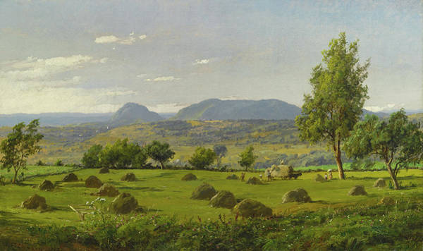 Wall Art - Painting - Mount Adam And Eve. Haymaking  by Jasper Francis Cropsey