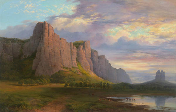 Painting - Mount Arapiles And The Mitre Rock by Nicholas Chevalier