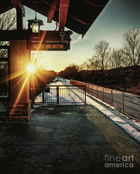 Arlington County Photograph - Mount Arlington Station In Winter by Mark Miller