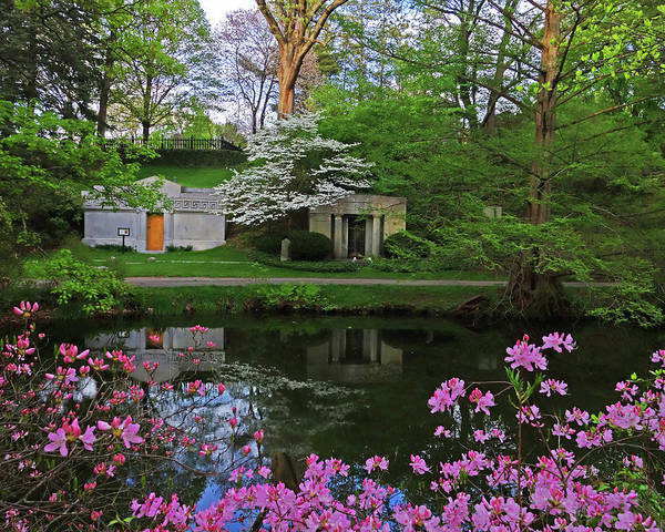 Photograph - Mount Auburn Cemetery In The Spring Pond Reflection Cambridge Ma by Toby McGuire