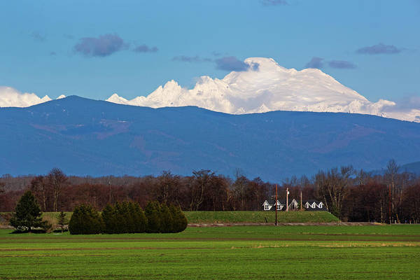 Photograph - Mount Baker Above Skagit Valley by David Lunde
