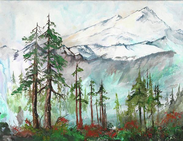 Painting - Mount Baker Artist Point by Sherry Shipley