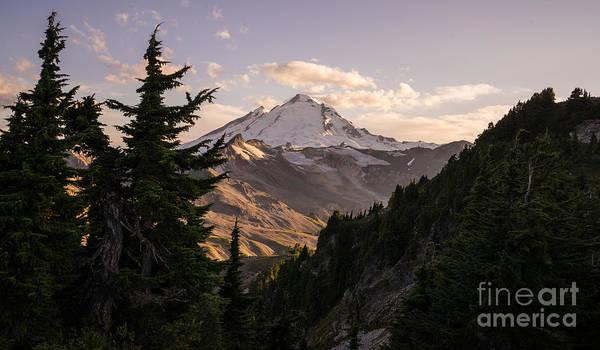 Alpenglow Photograph - Mount Baker Beautiful Landscape by Mike Reid
