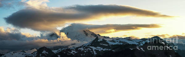 Table Mountain Wall Art - Photograph - Mount Baker Cloudscape Sunset Panorama by Mike Reid