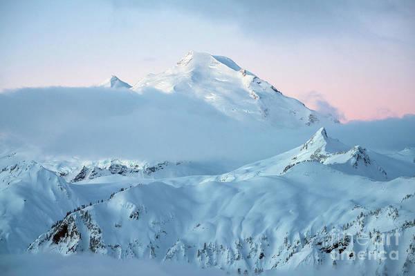Wall Art - Photograph - Mount Baker Fresh Snow Dawn by Mike Reid