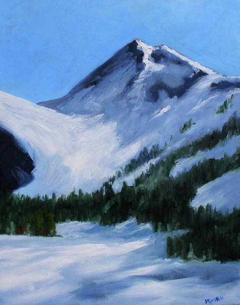 Wall Art - Painting - Mount Baker Glacier by Nancy Merkle
