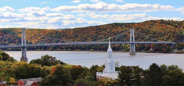 Mount Carmel And The Mid Hudson Bridge Art Print