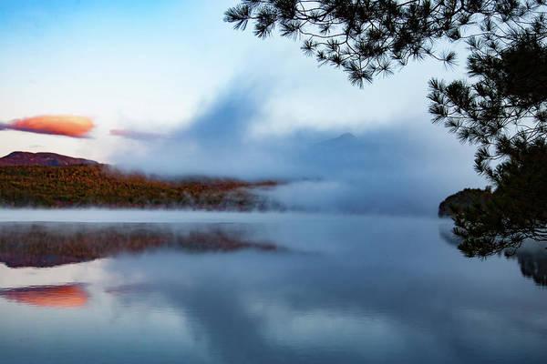 Photograph - Mount Chocorua Peeks Above The Fog by Jeff Folger