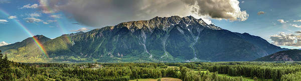 Photograph - Mount Currie In The Enchanting Pemberton Valley With Double Rainbow by Pierre Leclerc Photography